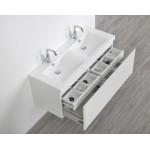 Waschbecken mit Wellen & Unterschrank 120cm