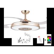 Deckenventilatoren mit LED Licht & Lautsprecher